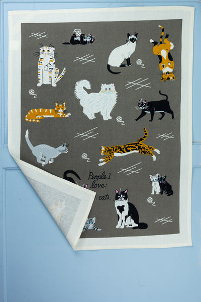 People I Love: Cats Tea Towel