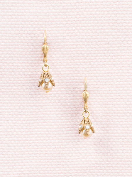 Petite Pearl and Crystal Drop Earrings