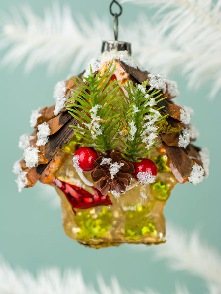 Pincone Bird House Ornament