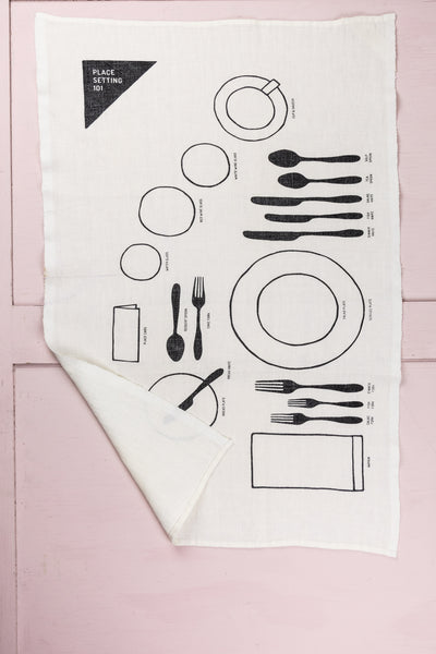 Place Setting 101 Linen Tea Towel