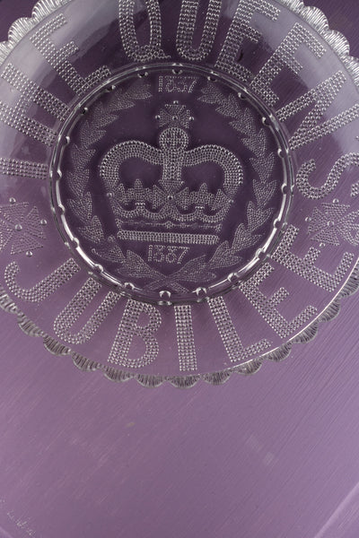 Antique Queen Victoria Glass Golden Jubilee Dish