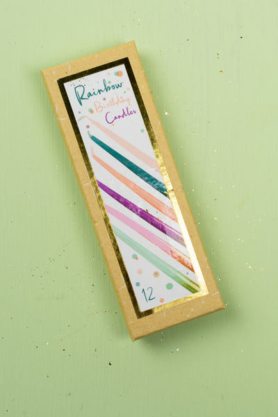 Tall Rainbow Birthday Party Candles