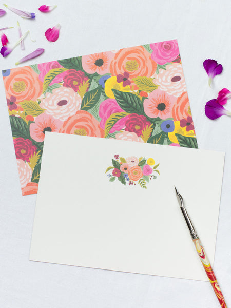 Rifle Juliet Rose Floral Notecards