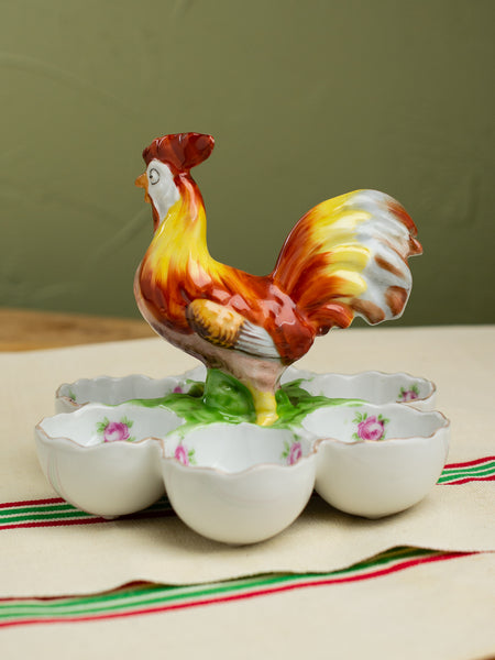 Vintage French Rooster Egg Caddy