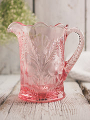 Rose Thistle Glass Pitcher