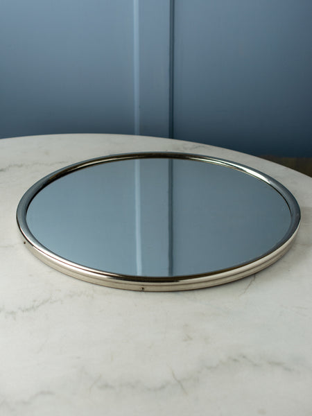 Vintage Round Mirror Display Plateau