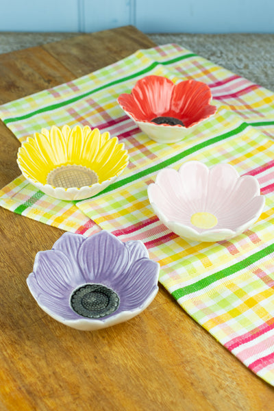 Set of 4 Flower Bowls