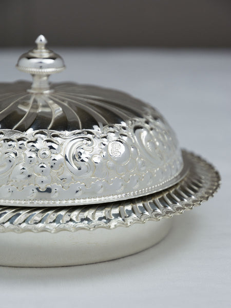 Vintage Silverplate Butter Dish