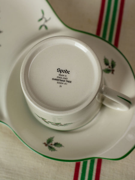 Vintage Spode Christmas Tree 'Tea and Toast' Set