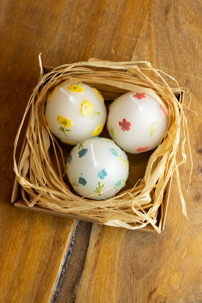 Spring Egg Candle Trio