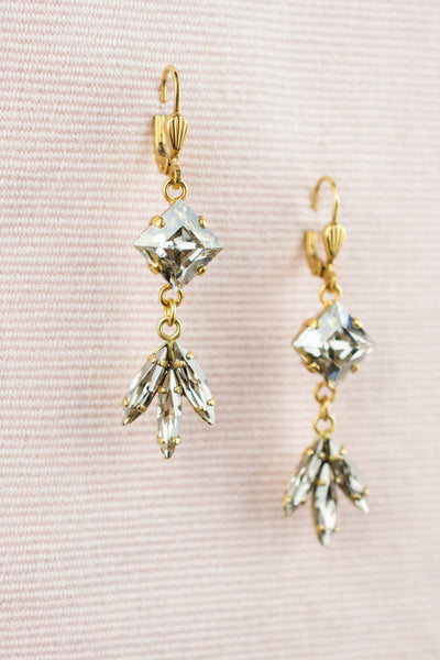 Square Mariquise Crystal Drops