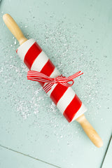 Candy Cane Stripe Porcelain Rolling Pin