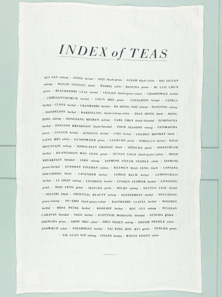 Index of Tea Linen Tea Towel