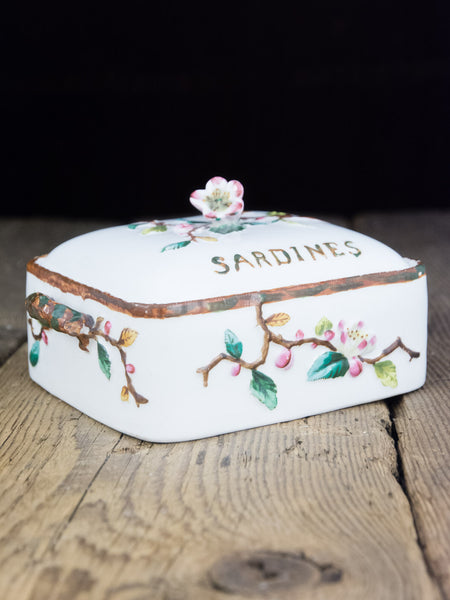 Victorian Hand-Painted Sardine Box
