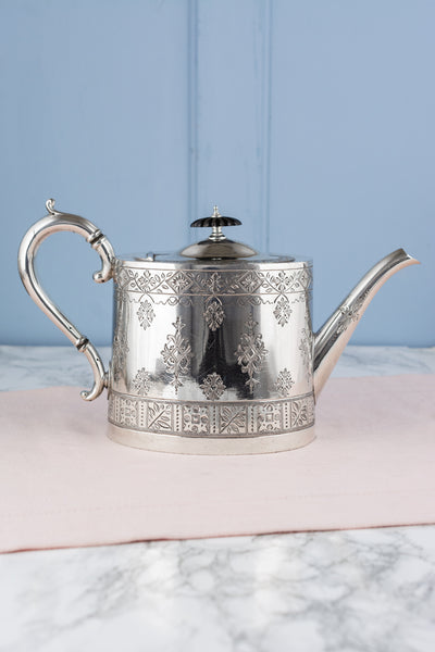 Victorian Silverplate Tea Service