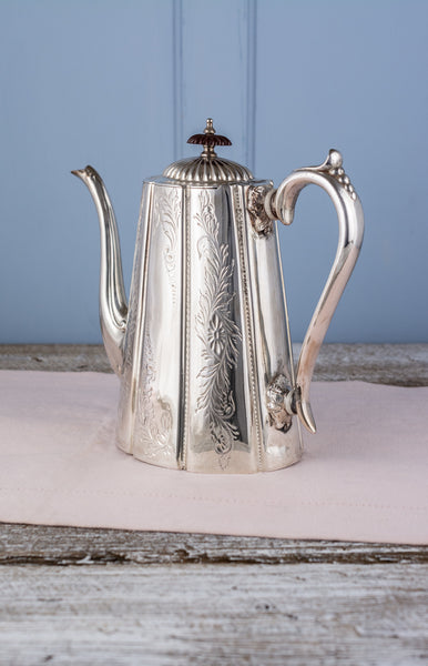 Victorian Silverplate Coffee Pot with Bakelite Finial