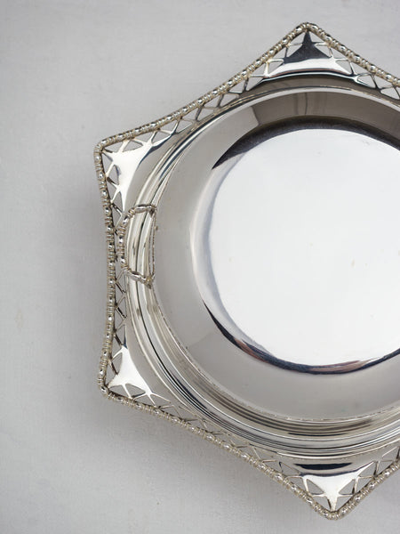 Vintage Silverplate Muffin Dish