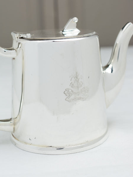 Vintage Silverplate Teapot County Hotel Canterbury