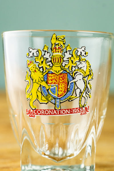 Vintage Queen Elizabeth II Coronation Shot Glasses - Set of 4