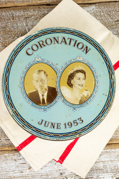 Queen Elizabeth II 1953 Coronation Large Confections Tin