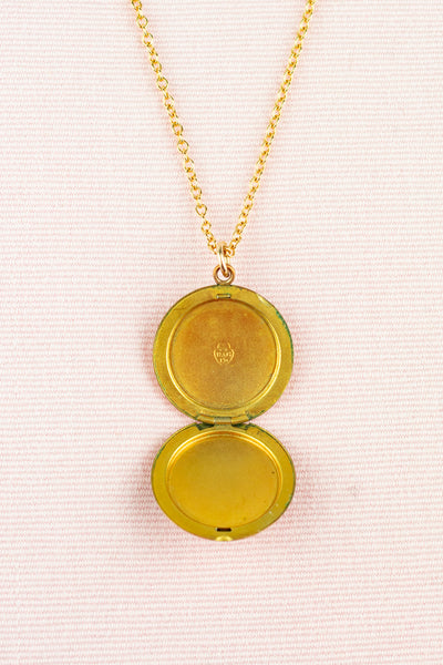 Antique Etched Gold Locket