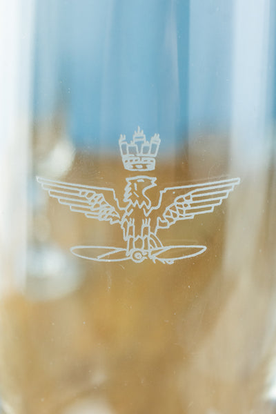 Vintage Italian Air Force Champagne Flute