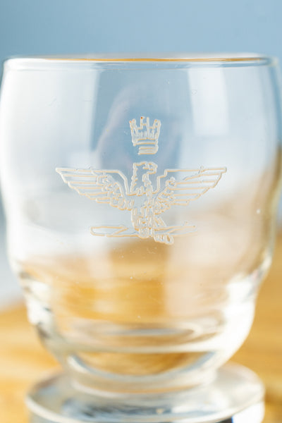 Vintage Italian Air Force Cordial Glass