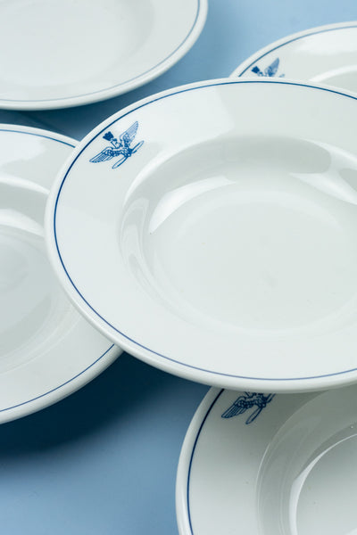 Vintage Italian Air Force Soup Bowls - Set of 4