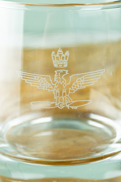 Vintage Italian Air Force Whiskey Glass