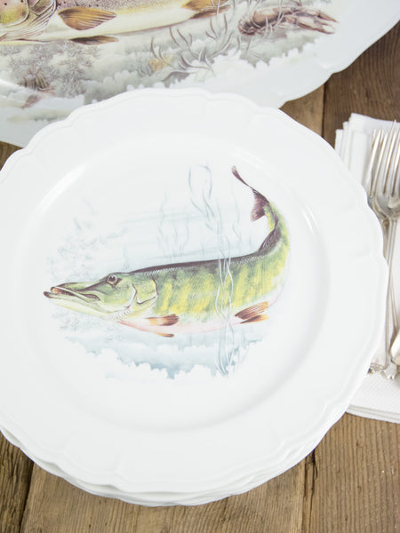 Vintage Limoges Fish Service For 12