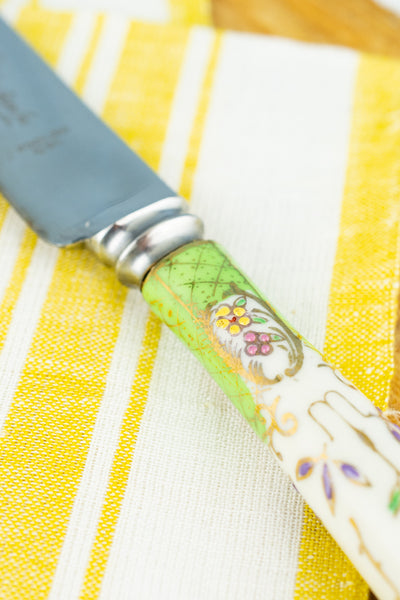 Vintage Porcelain Handle Bridal Cake Knife