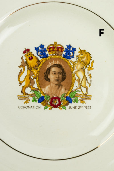 Vintage Queen Elizabeth Coronation Tea Plates
