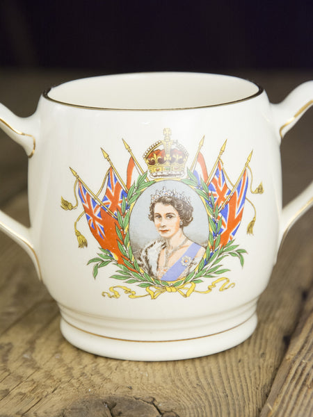 Vintage Queen Elizabeth Double Handle Mug