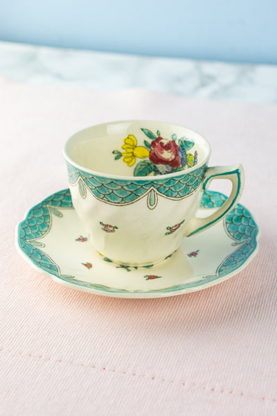 Vintage Royal Doulton Demitasse Cup and Saucer