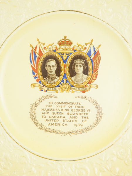 Vintage 1939 Royal Visit To Canada And US Square Plate