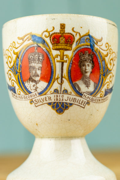 Vintage King George V and Queen Mary 1935 Silver Jubilee Egg Cup