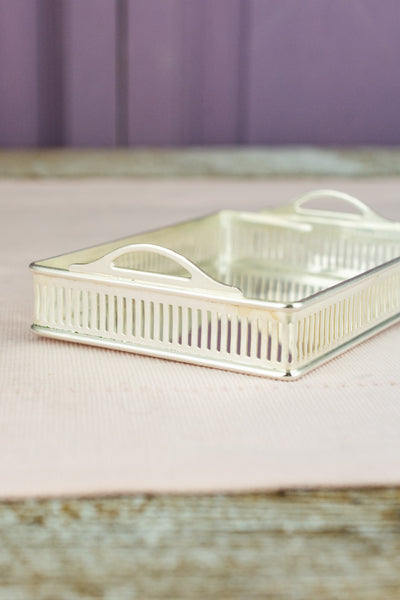 Small Silverplate Calling Card Tray