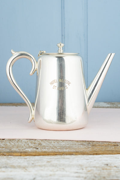 Vintage Silverplate Hotel Majestic Coffee Pot