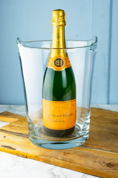 Vintage Tall Glass Champagne Bucket