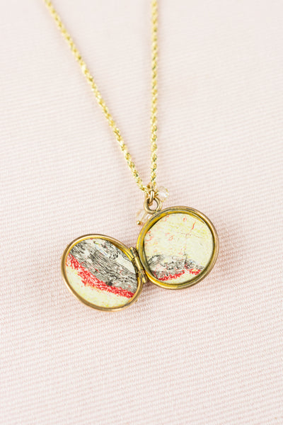 Vintage 14k Gold Locket with Rope Chain