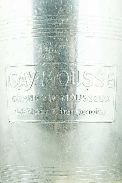 "Vintage Aluminum Champagne Bucket ""Gay Mousse"""
