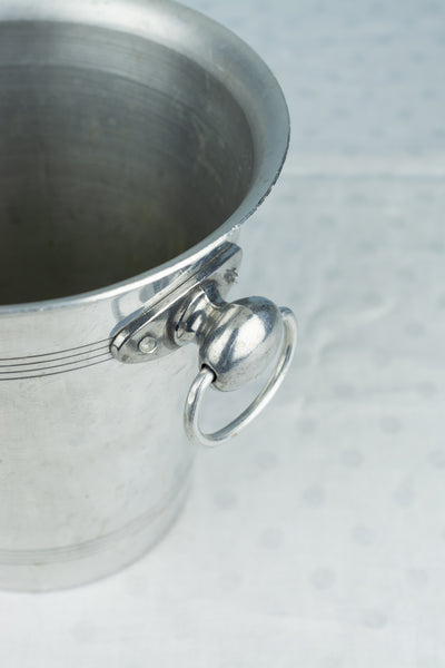 "Vintage Aluminum Champagne Bucket ""Glavier-Moussy"""