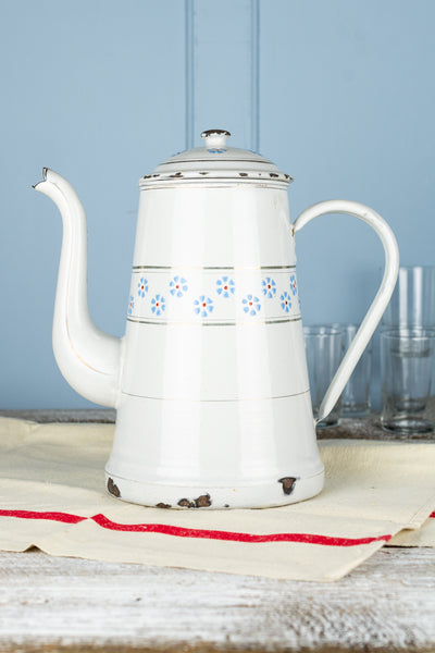 Vintage Enamel Coffee Pot