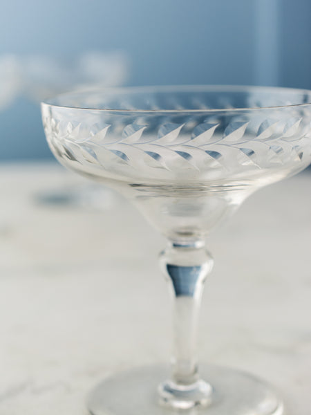 Vintage Etched Coupes - Set of 9
