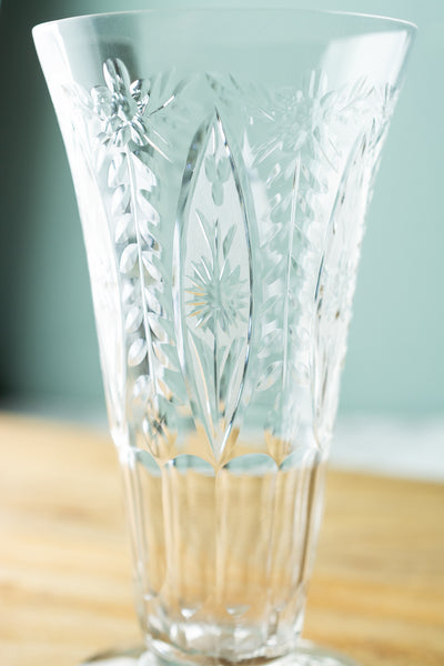 Vintage Etched Juice Glasses - Set of 4