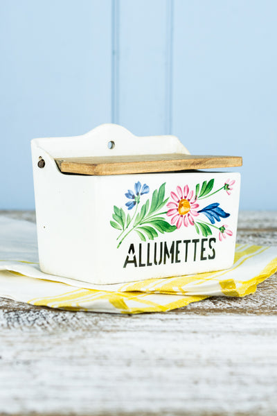 Vintage French Floral Allumettes Box