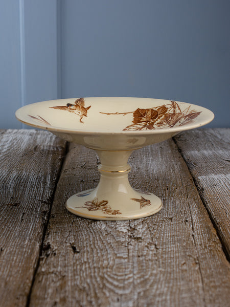Antique French Bramble Branch and Bird Compote