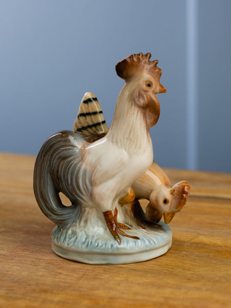 Vintage French Hen & Rooster Figurine