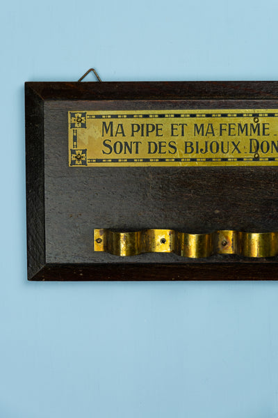 Vintage French Pipe Rack