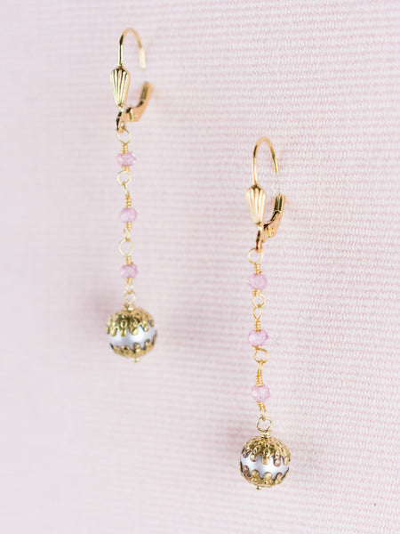 Pearl & Semi-Precious Beaded Earrings